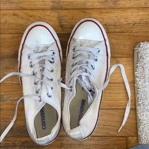 White converse women's size 7